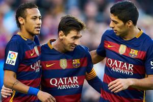 Barcelona's star trio: Neymar, Lionel Messi, Luis Suarez
